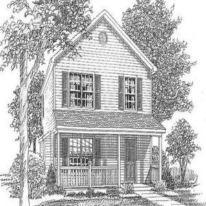 Line drawing of a house